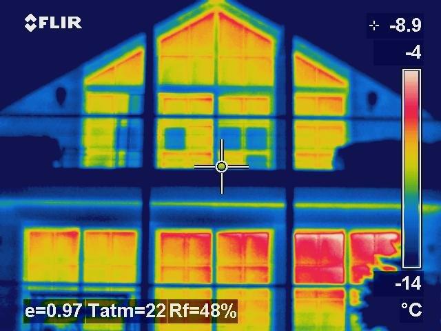 Thermographie Bild Hausfassade